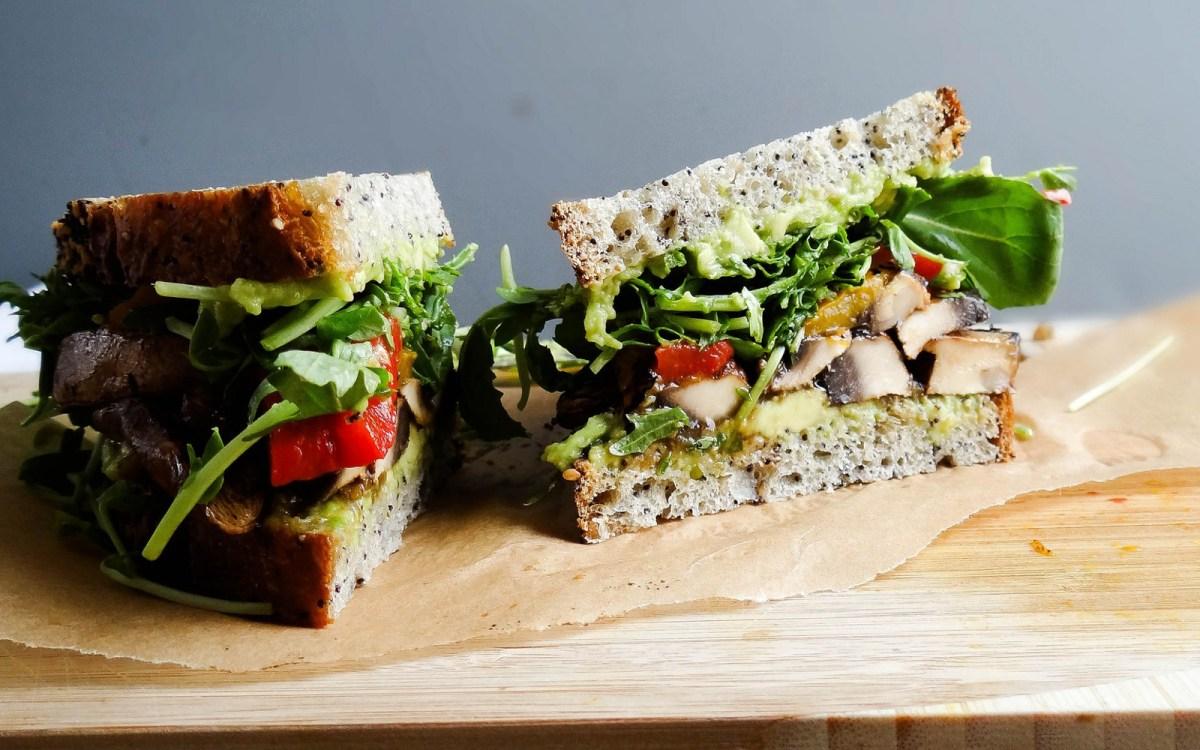 Portobello 'Bacon' Sandwich