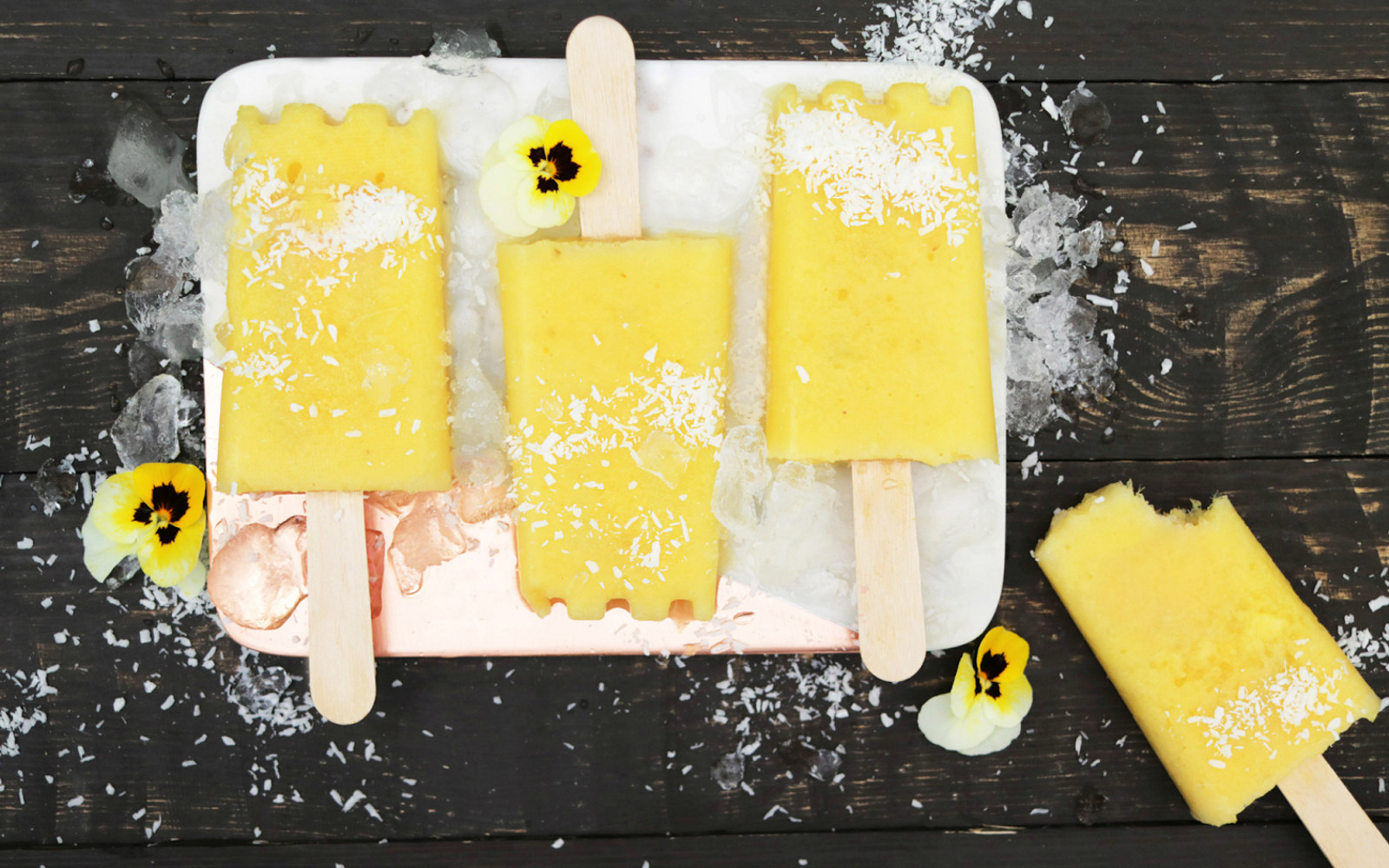 Pineapple Ice Lollies