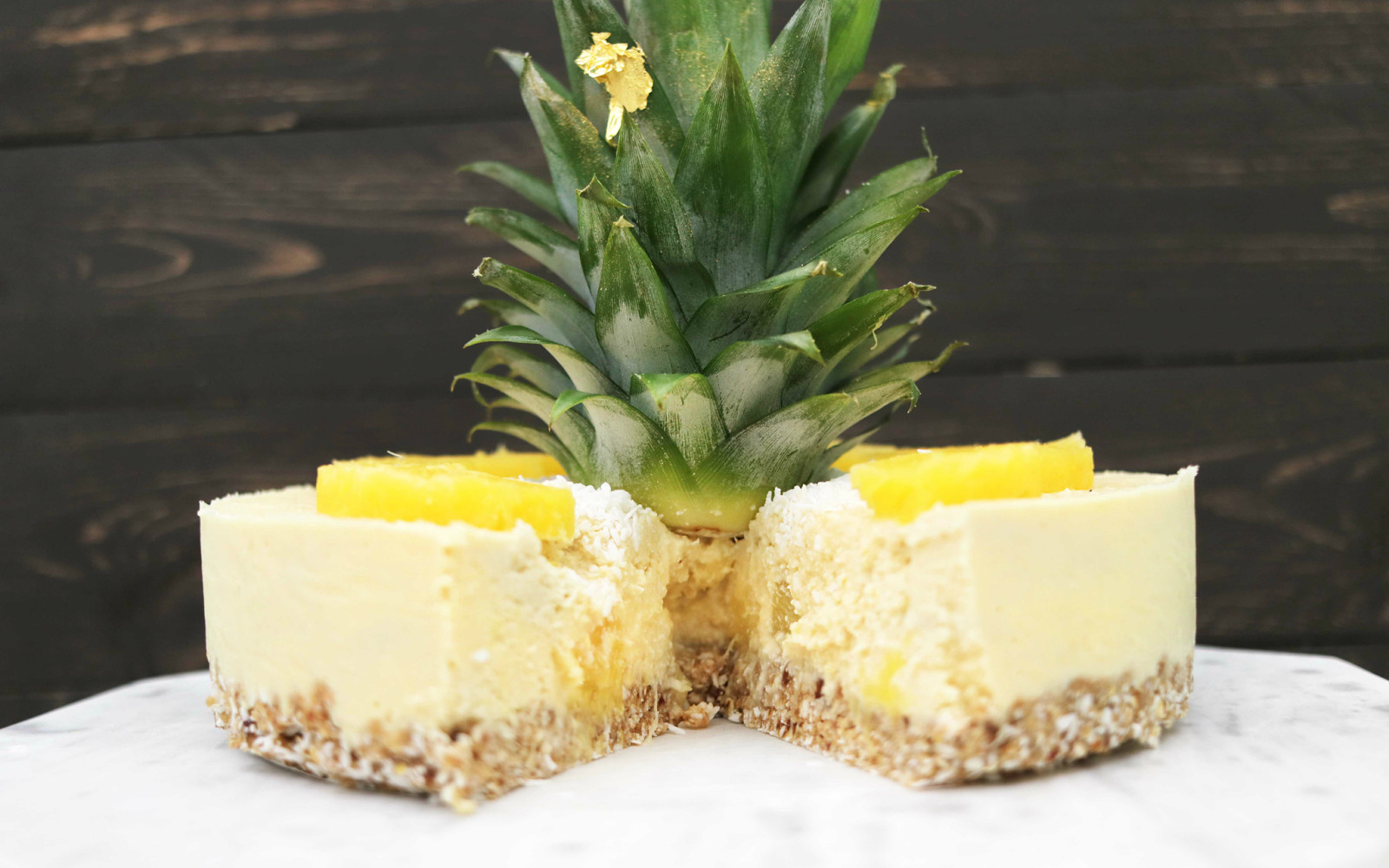 Raw Pineapple Cheesecake