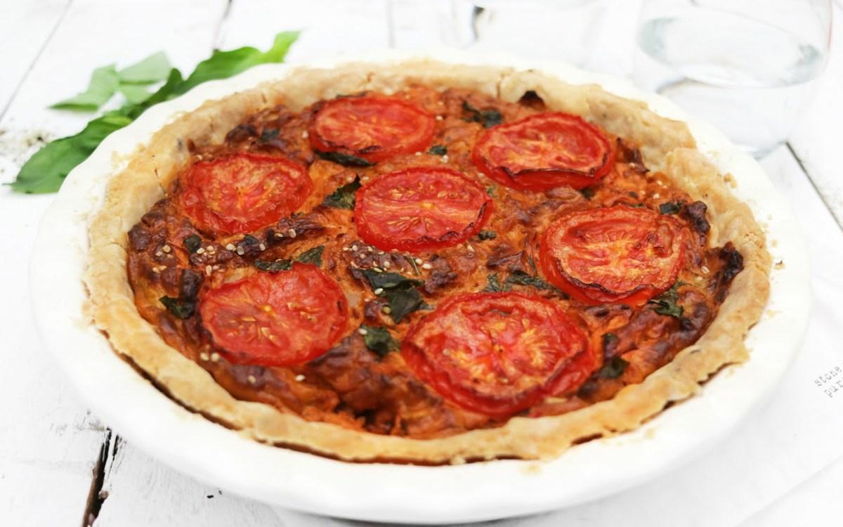 Vegan Sun-Dried Tomato Quiche