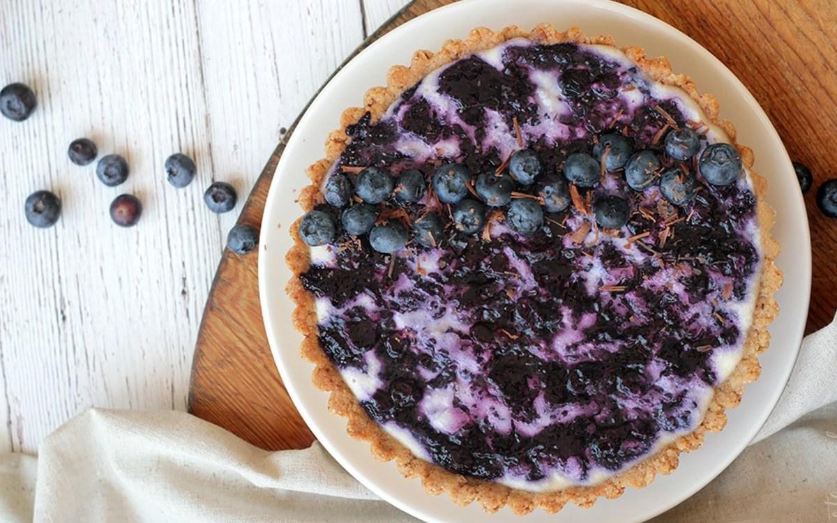 Blueberry Chia Jam and Vanilla Cream Tart