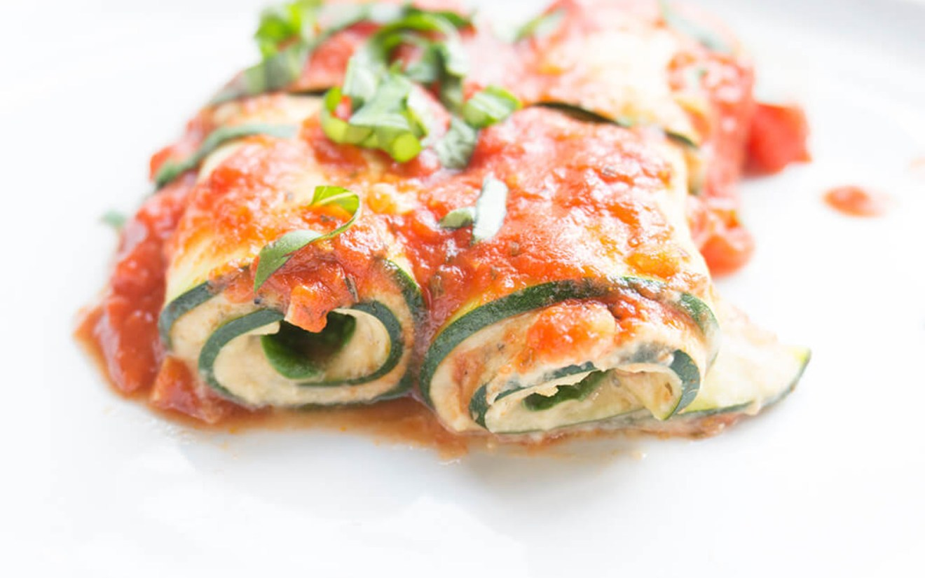 Vegan Fresh and Light Zucchini Lasagna Roll-Ups