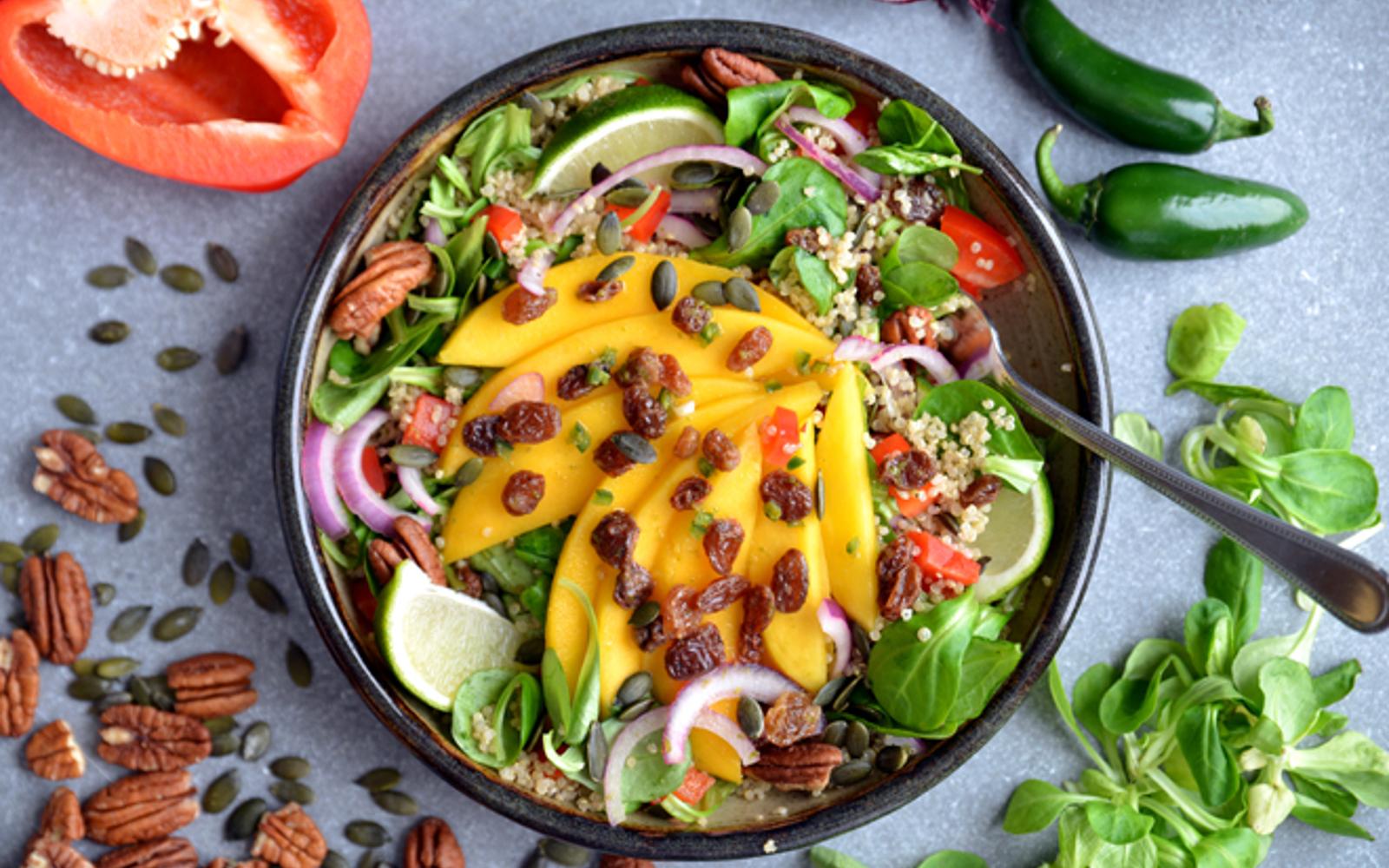 http://www.onegreenplanet.org/vegan-recipe/mango-chili-and-lime-quinoa-salad/