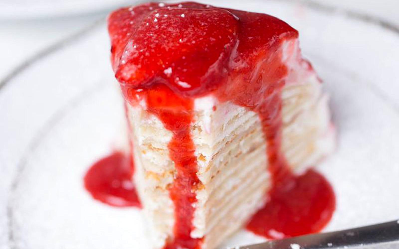 Pancake Cake With Coconut Cream