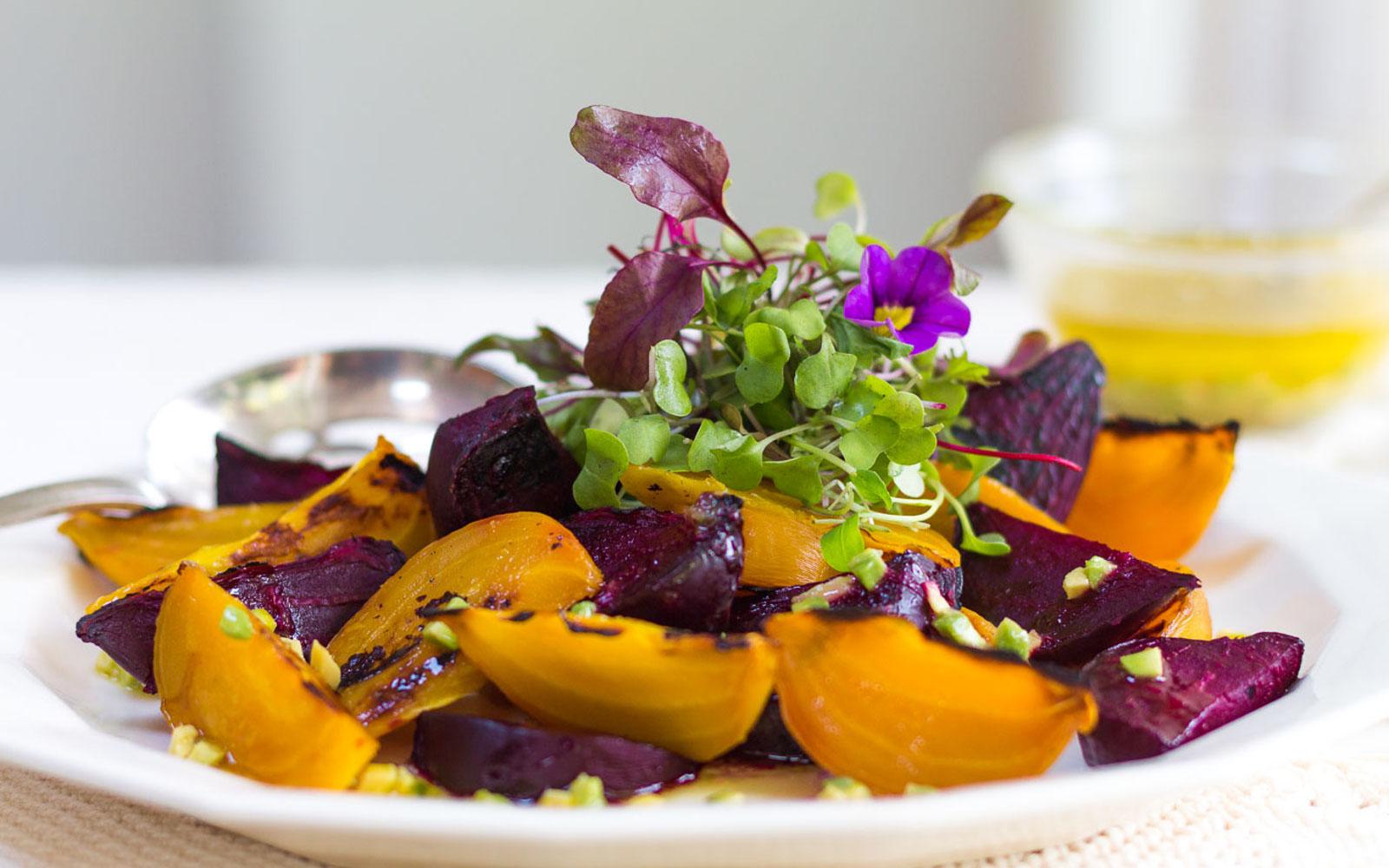 Wood Fired Beet Salad with Avocado-Citrus Vinaigrette