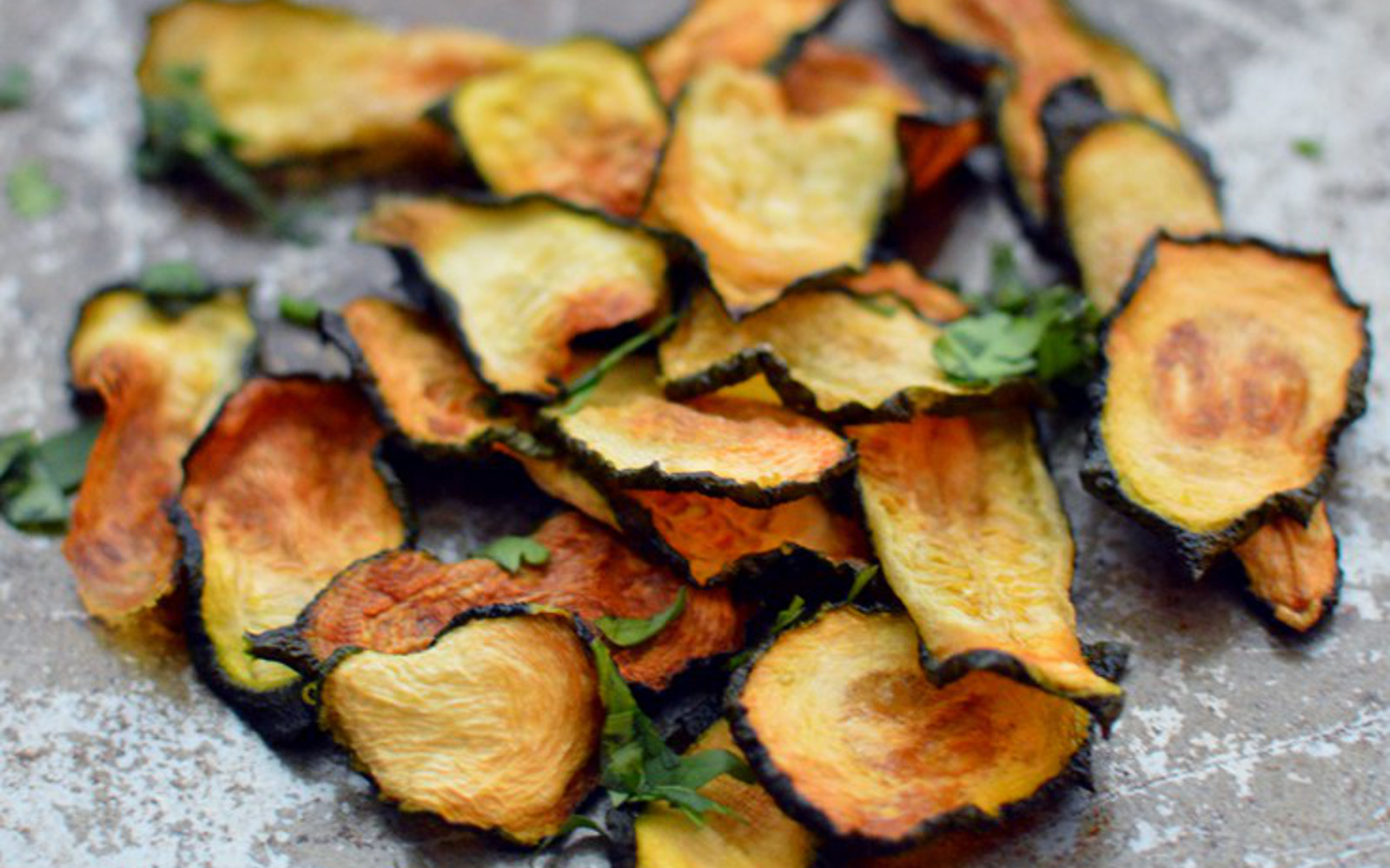 Vegan Gluten-Free Crispy Baked Zucchini Chips