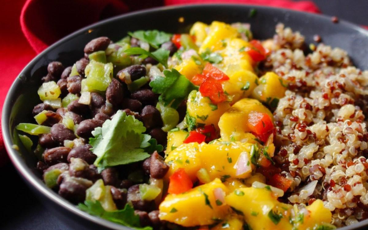 Vegan Cuban Black Bean Mango Bowl