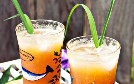 Peach and Lemongrass Shrub