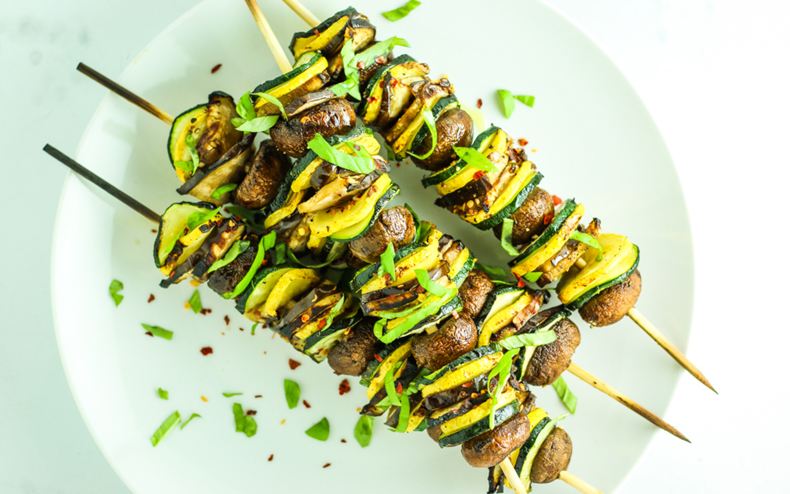Vegan Grilled Ratatouille Kebabs