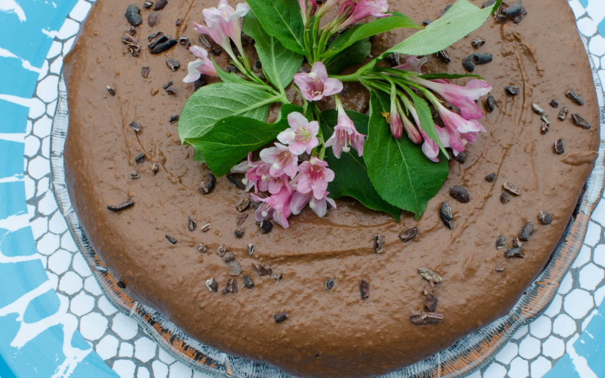 Vegan Chocolate Frosted Zucchini Cake