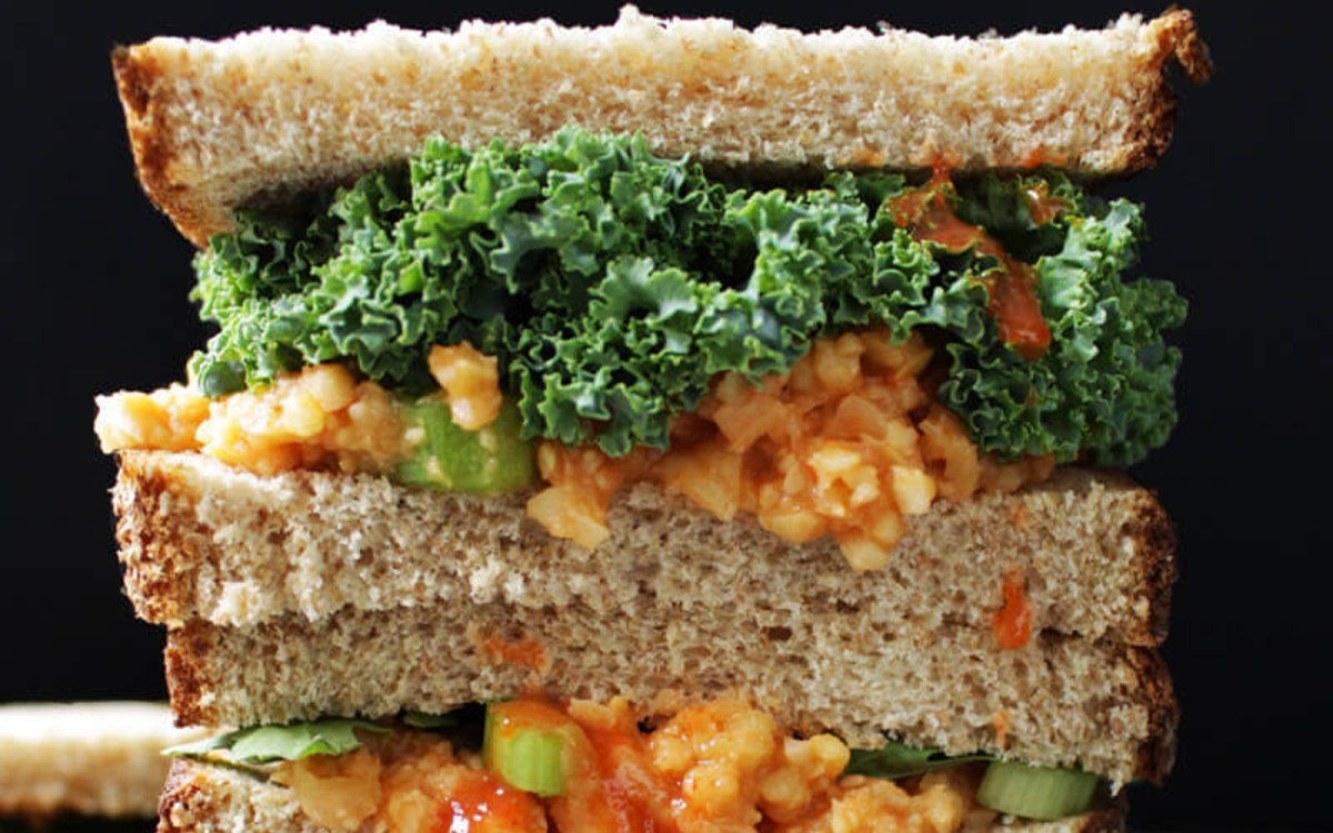 Buffalo Chickpea Salad Sandwich [Vegan, Gluten-Free] - One Green Planet
