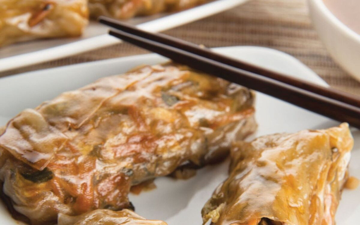 'Egg' Rolls With Homemade Duck Sauce