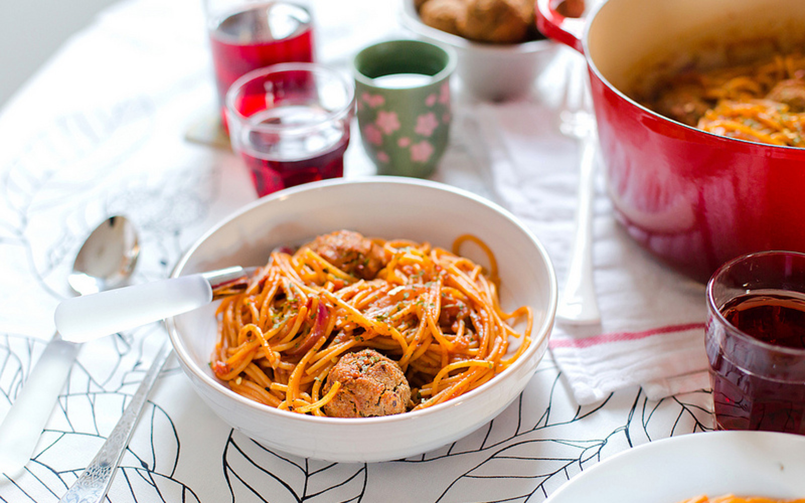 Vegan Spaghetti With Black-Eyed Pea 'Meatballs'