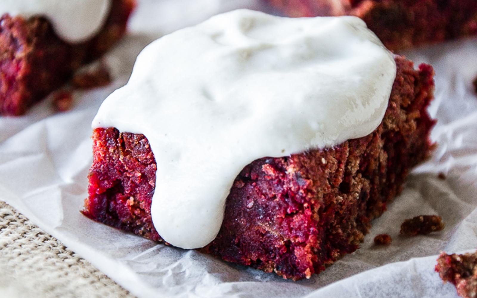 Vegan Red Velvet Beet Brownies With Aquafaba Vanilla Cashew Cream Frosting