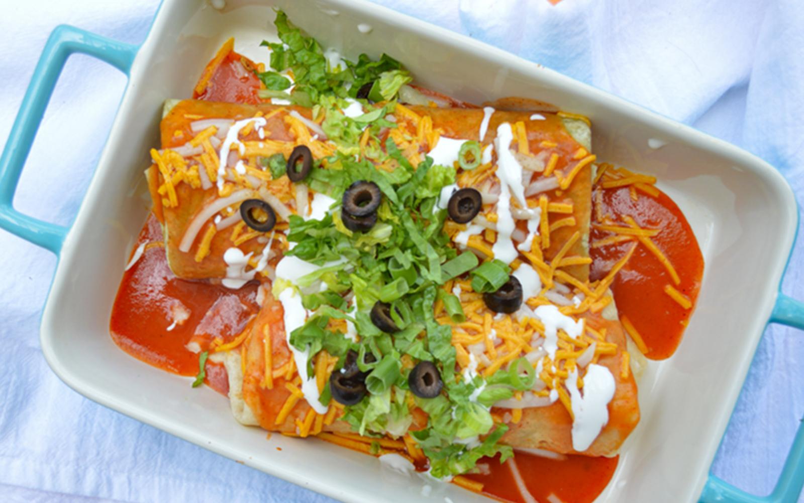 vegan smothered burritos