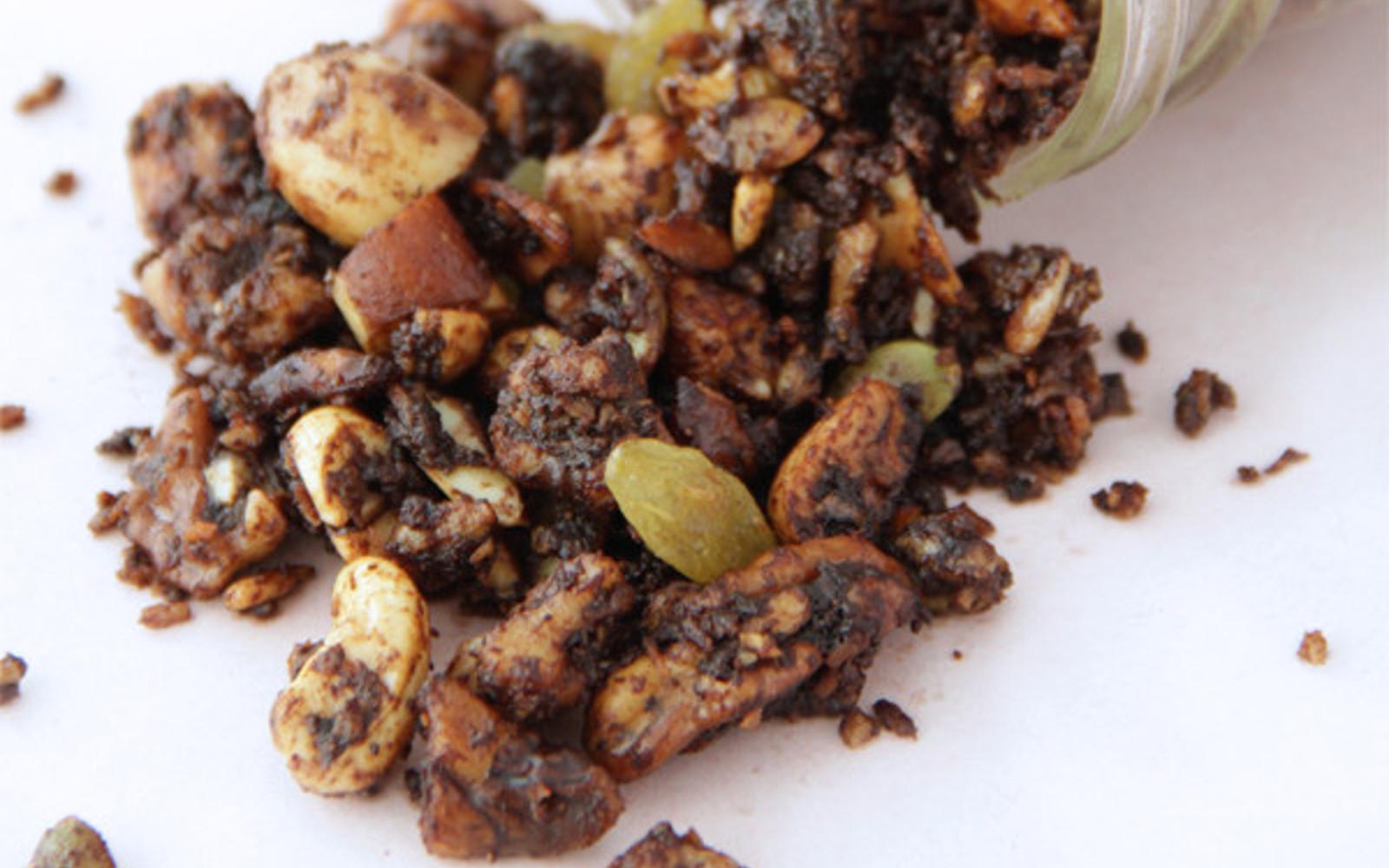 Vegan Gluten-Free Slow Cooker Choco'Nutz Granola