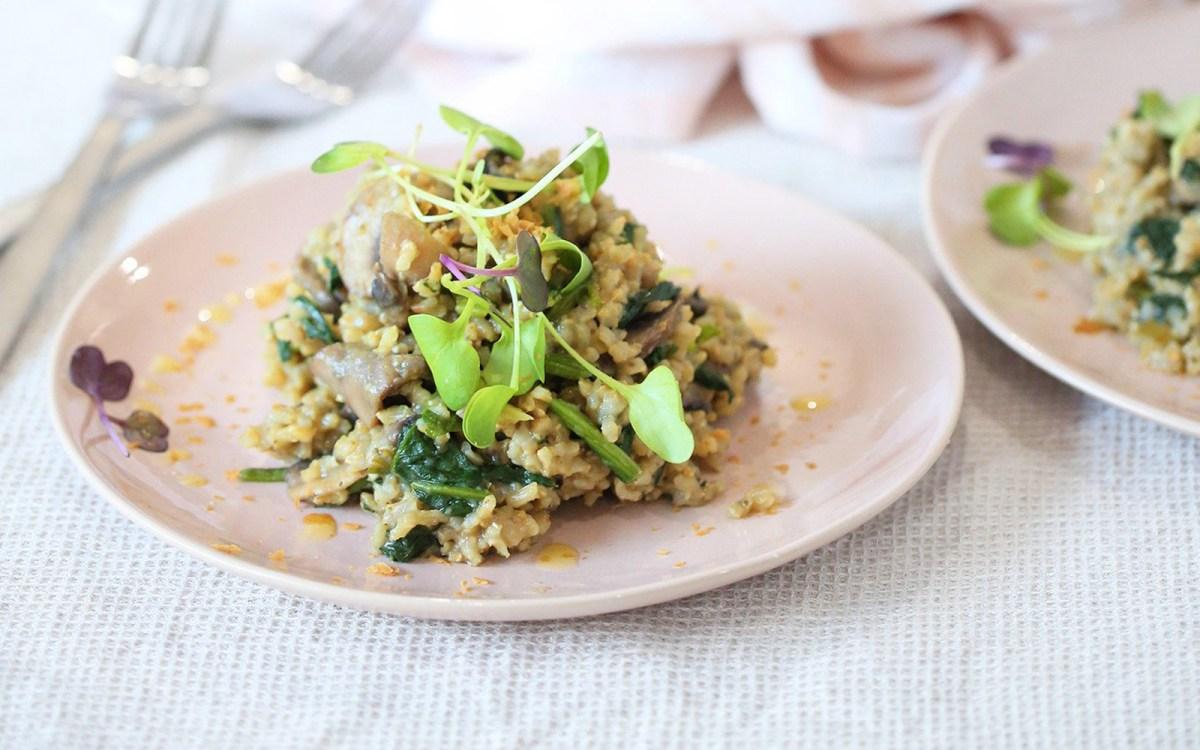 Vegan Mushroom Garlic Risotto