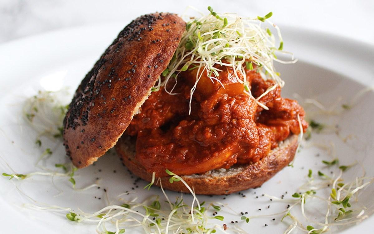 Vegan Marinated Tomato Mushroom Bagels
