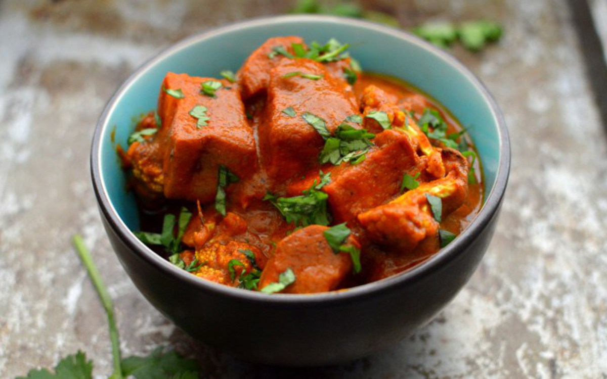 'Butter' Masala With Roasted Sweet Potato and Cauliflower