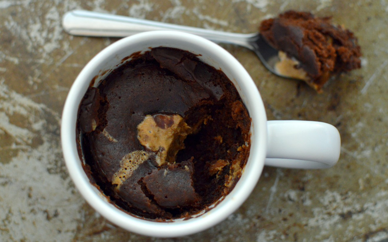 Vegan Peanut Butter Brownie Mug Cake
