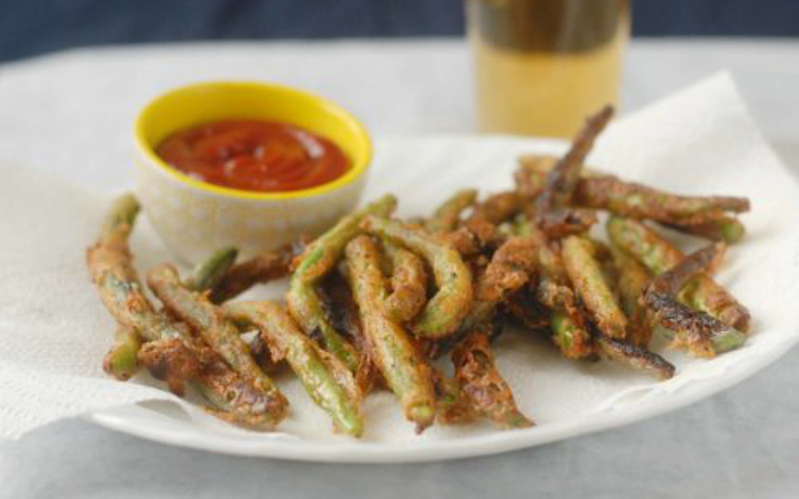 Vegan Beer Battered String Bean Fries