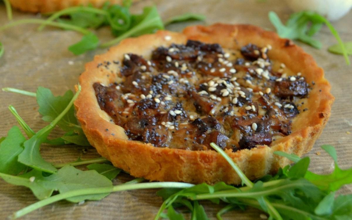 Vegan Mushroom and Garlic Tart