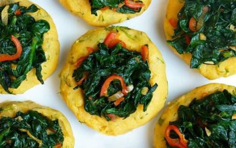 Vegan Grain-Free Spinach and Pepper Potato Bowls
