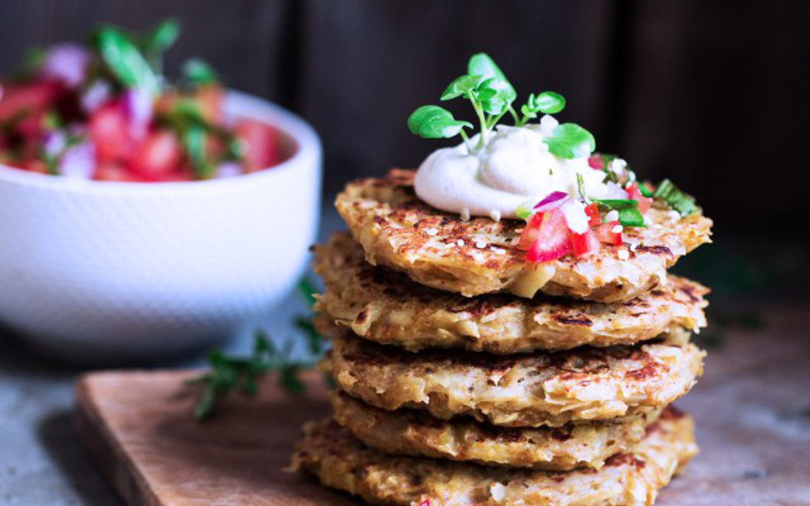 Vegan Savory Apple and Potato Pancakes