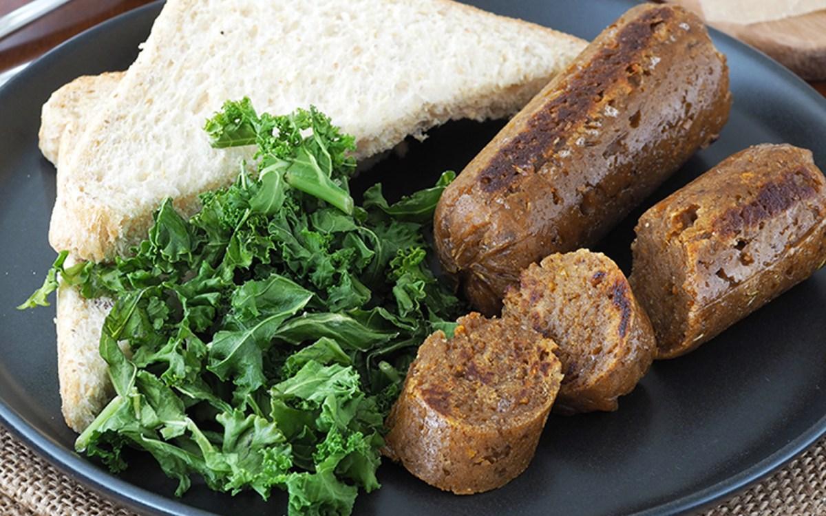 Vegan Smoky Maple Veggie Sausages
