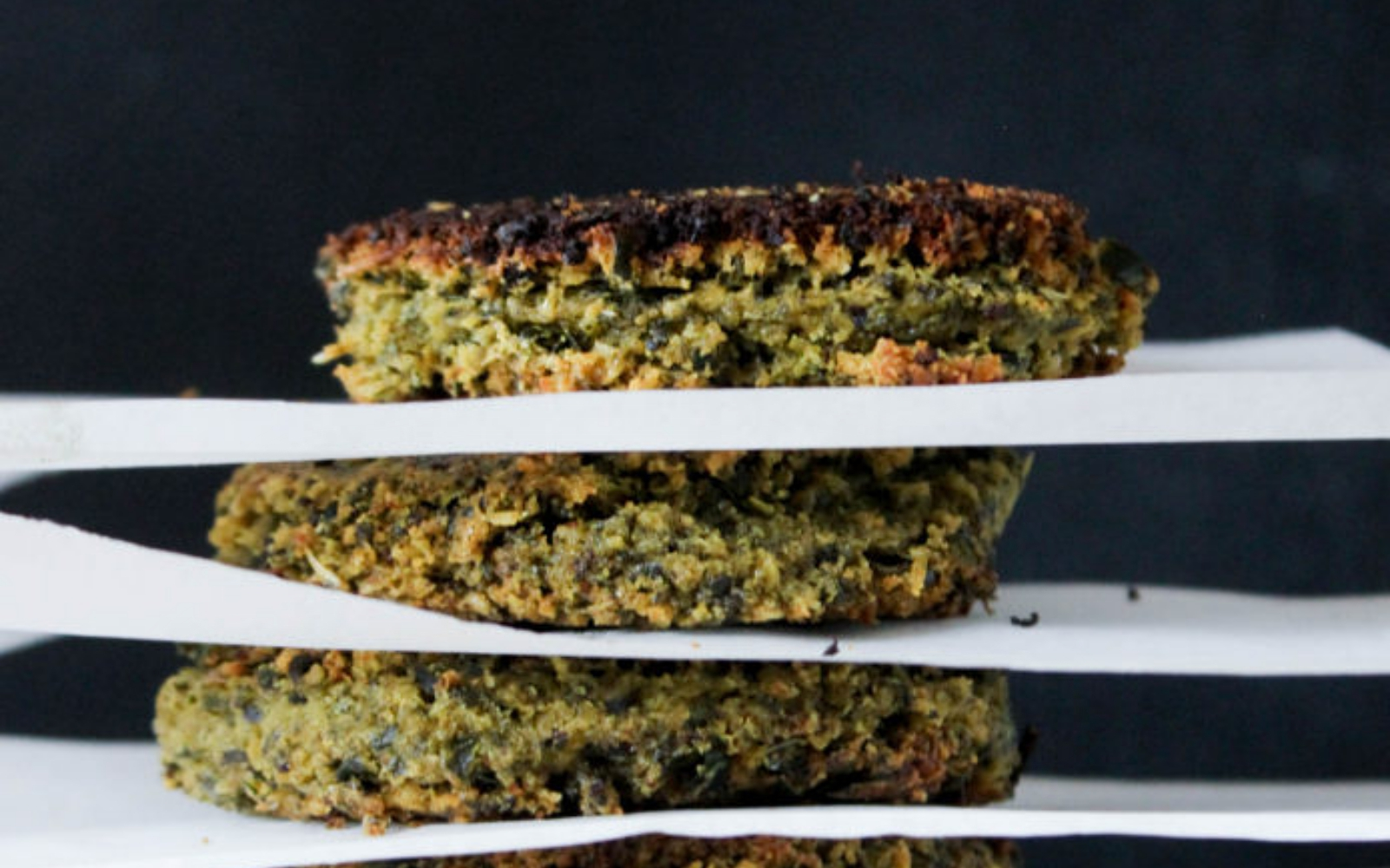 vegan easy kale falafel