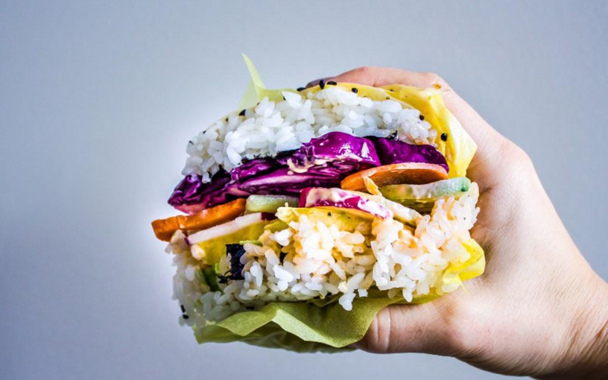 Vegan Rainbow Sushi Burgers