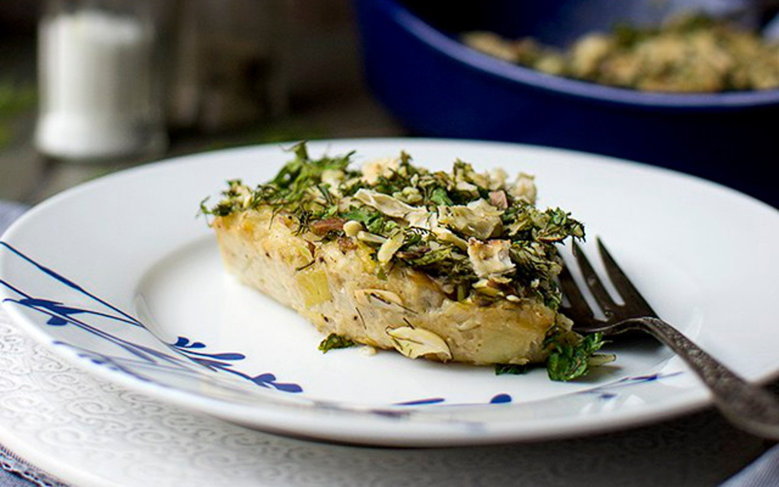 Vegan Cauliflower Leek Kugel