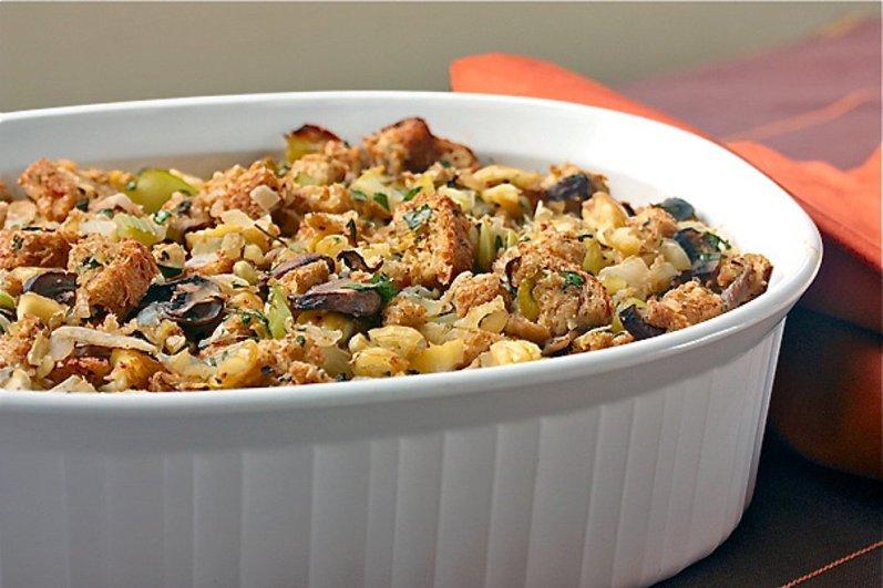 Vegan Chestnut Mushroom Stuffing