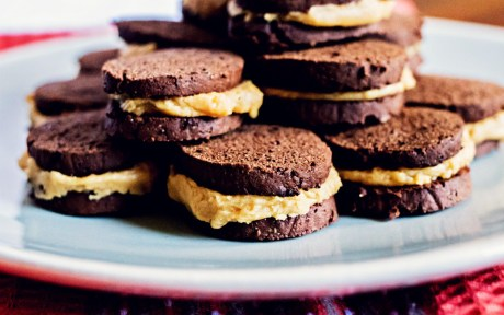 Vegan Gluten-Free Chocolate Peanut Butter Faux-reos stacked