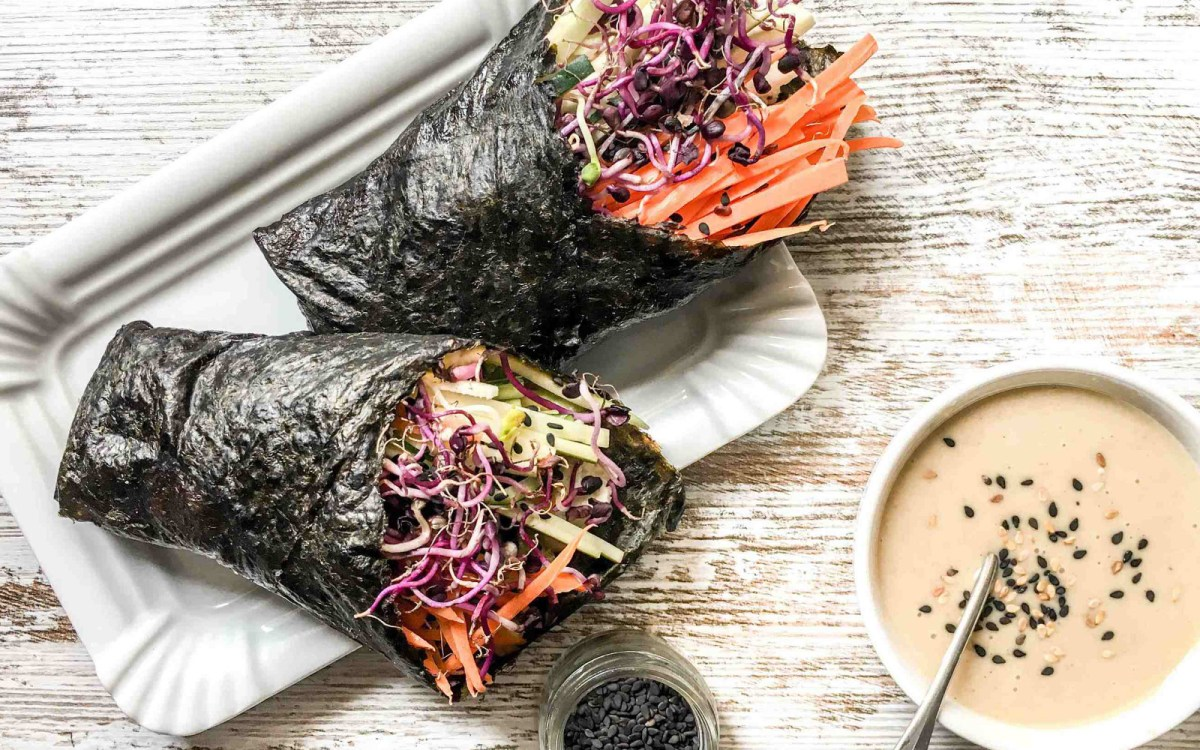 nori wraps with cauliflower pat and veggies vegan gluten free one green planet. Black Bedroom Furniture Sets. Home Design Ideas