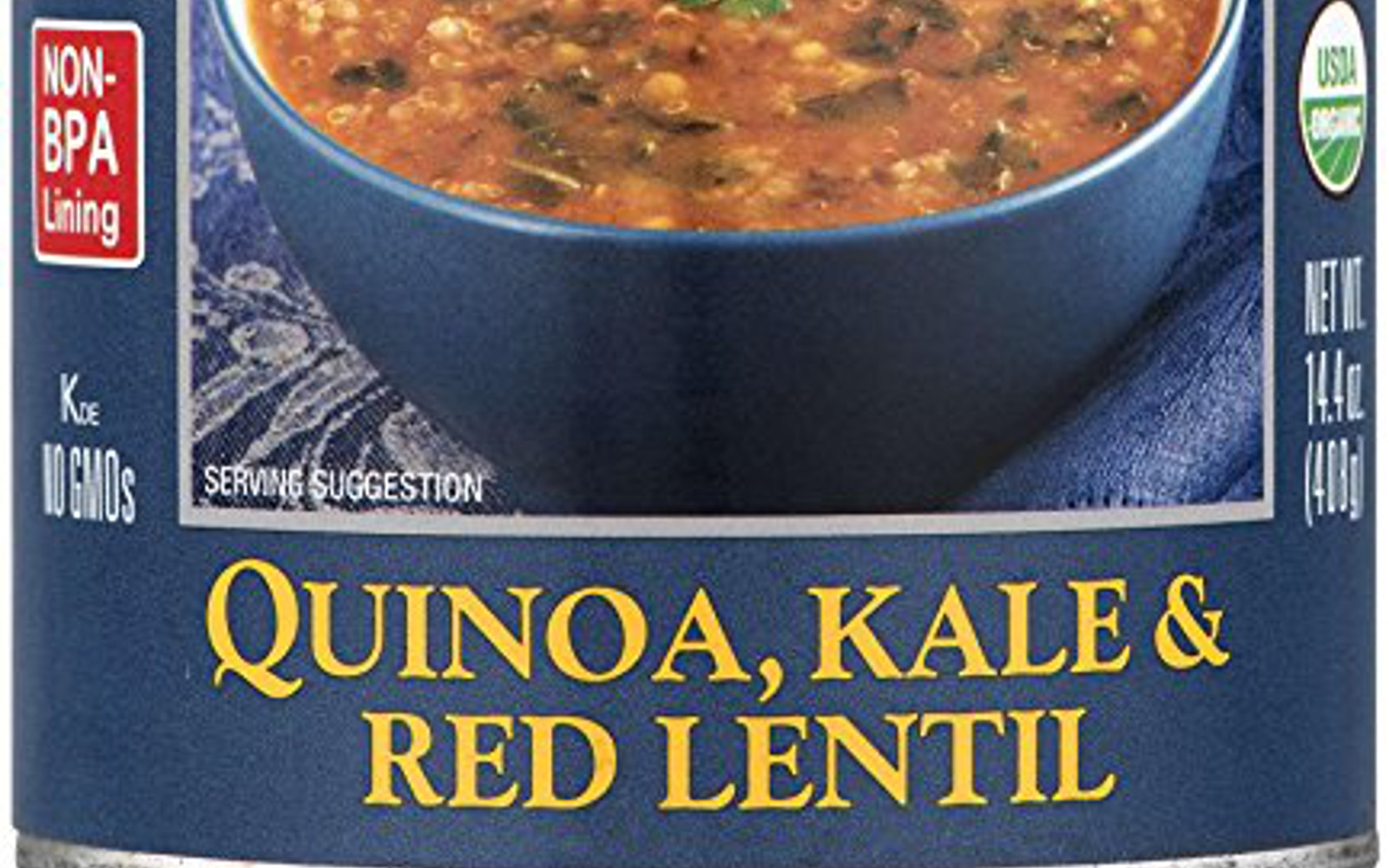 Healthy Amazon Soup Finds for the Vegan College Student | Vegan Amy's Organic Soups, Quinoa Kale & Red Lentil, 14.4 Ounce
