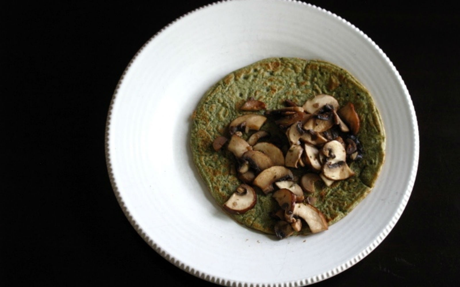 Vegan Savory Spinach Crepes with Sautéed Mushrooms [Gluten-Free]
