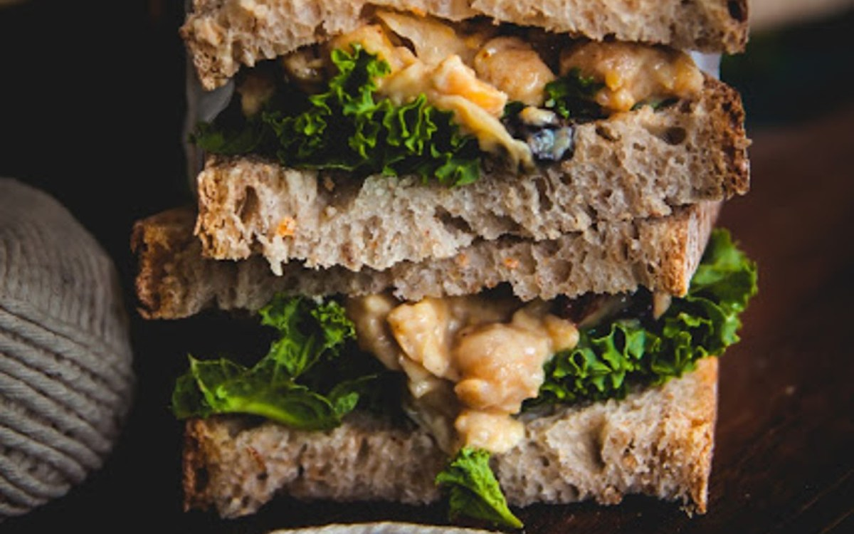 Coronation Chickpea Sandwiches