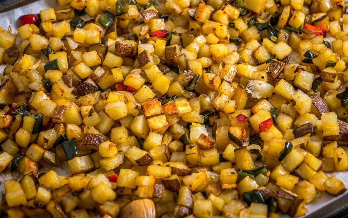 Vegan Poblano Breakfast Potatoes