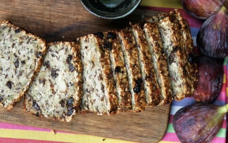 Vegan Gluten-Free Power Bread With Sunflower Seeds, Flax Seeds, Sesame Seeds, and Pumpkin Seeds