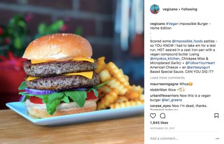 Vegicano Impossible Burger