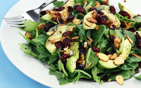 Vegan salad with avocado
