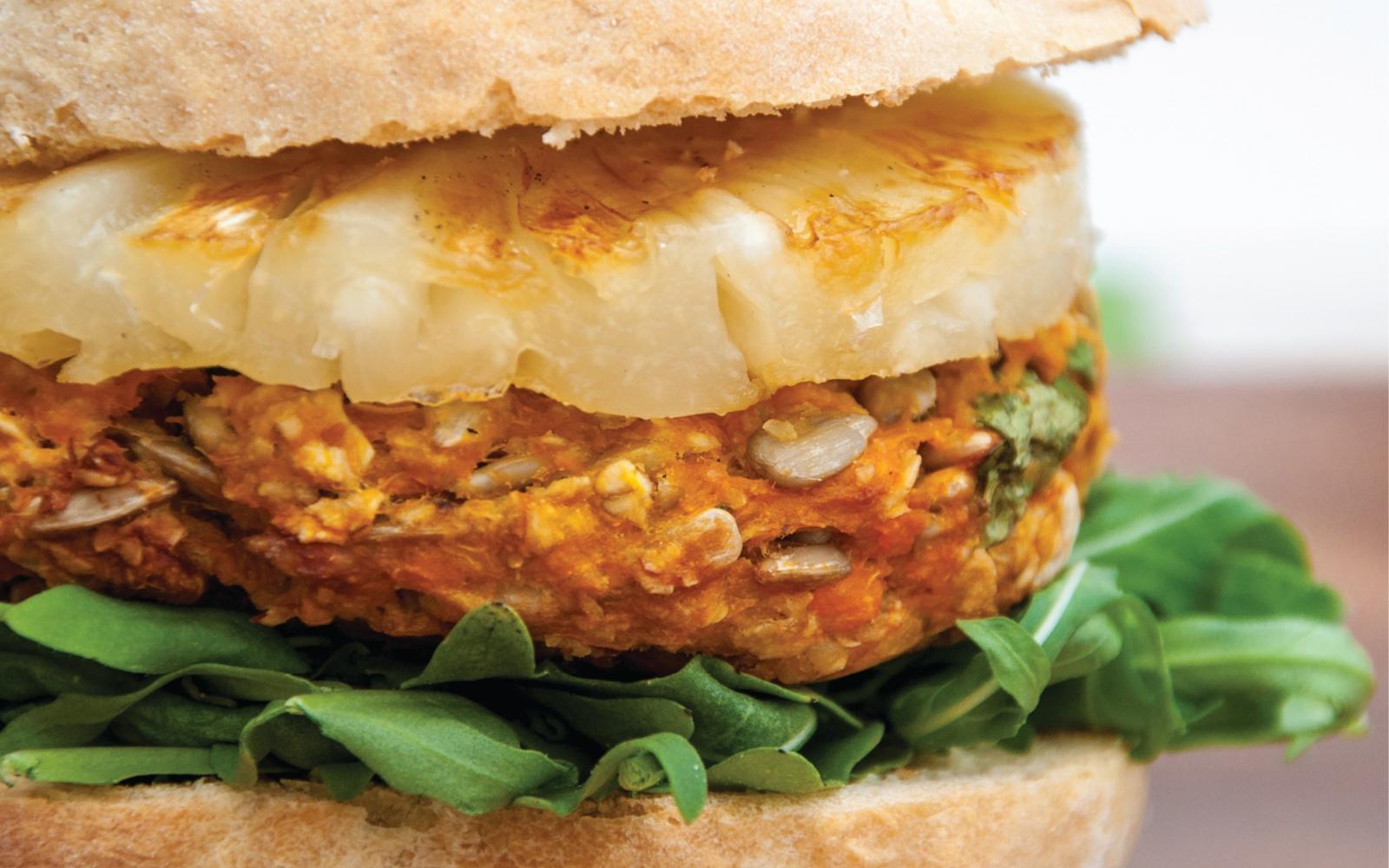 Vegan Sweet Potato Hawaii Burger