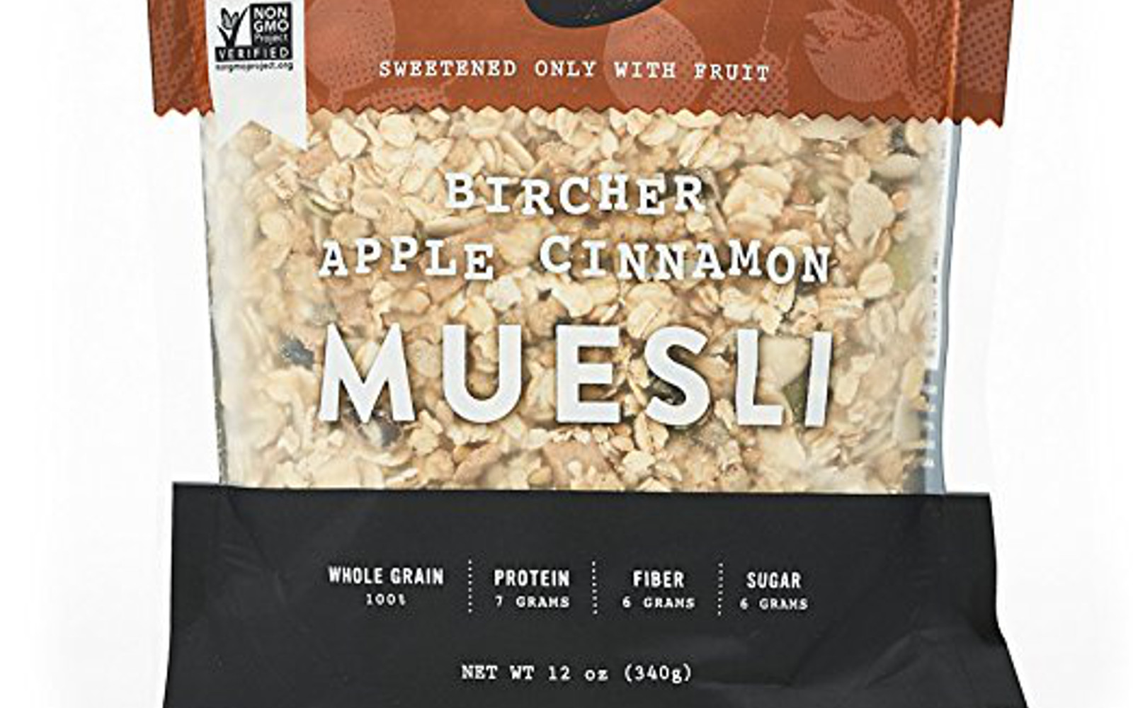 Seven Sundays Muesli - Bircher Unsweetened Apple Cinnamon – Non-GMO Certified, Gluten Free, Hot or Cold Breakfast Muesli 12 oz