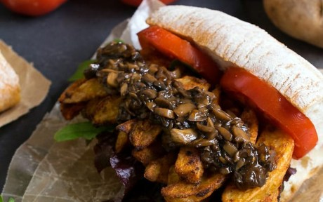 Vegan Cajun French Fry Po' Boy With Mushroom Gravy