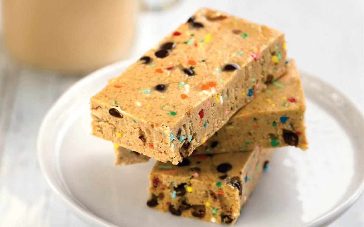 Vegan High-Protein Cake Batter Breakfast Bars