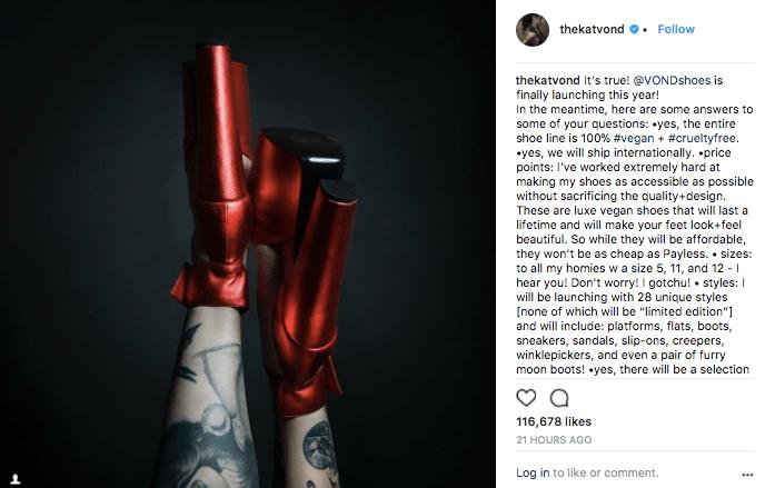 Kat Von D Launches Vegan Shoe Line!