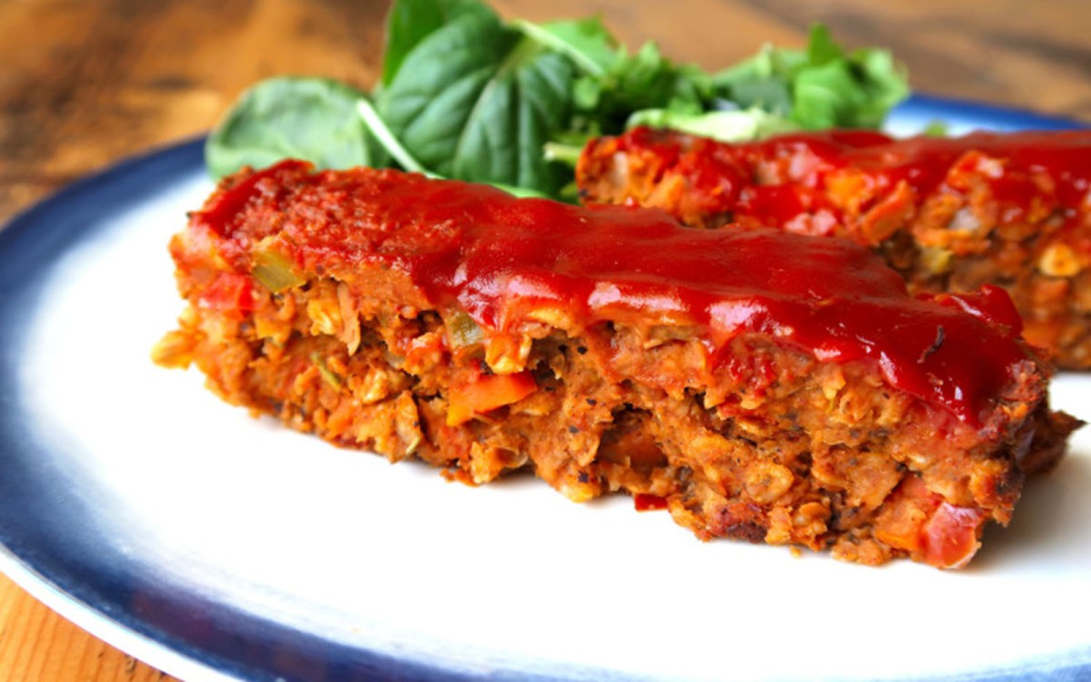 """Tempeh and Lentil """"Meat"""" Loaf"""