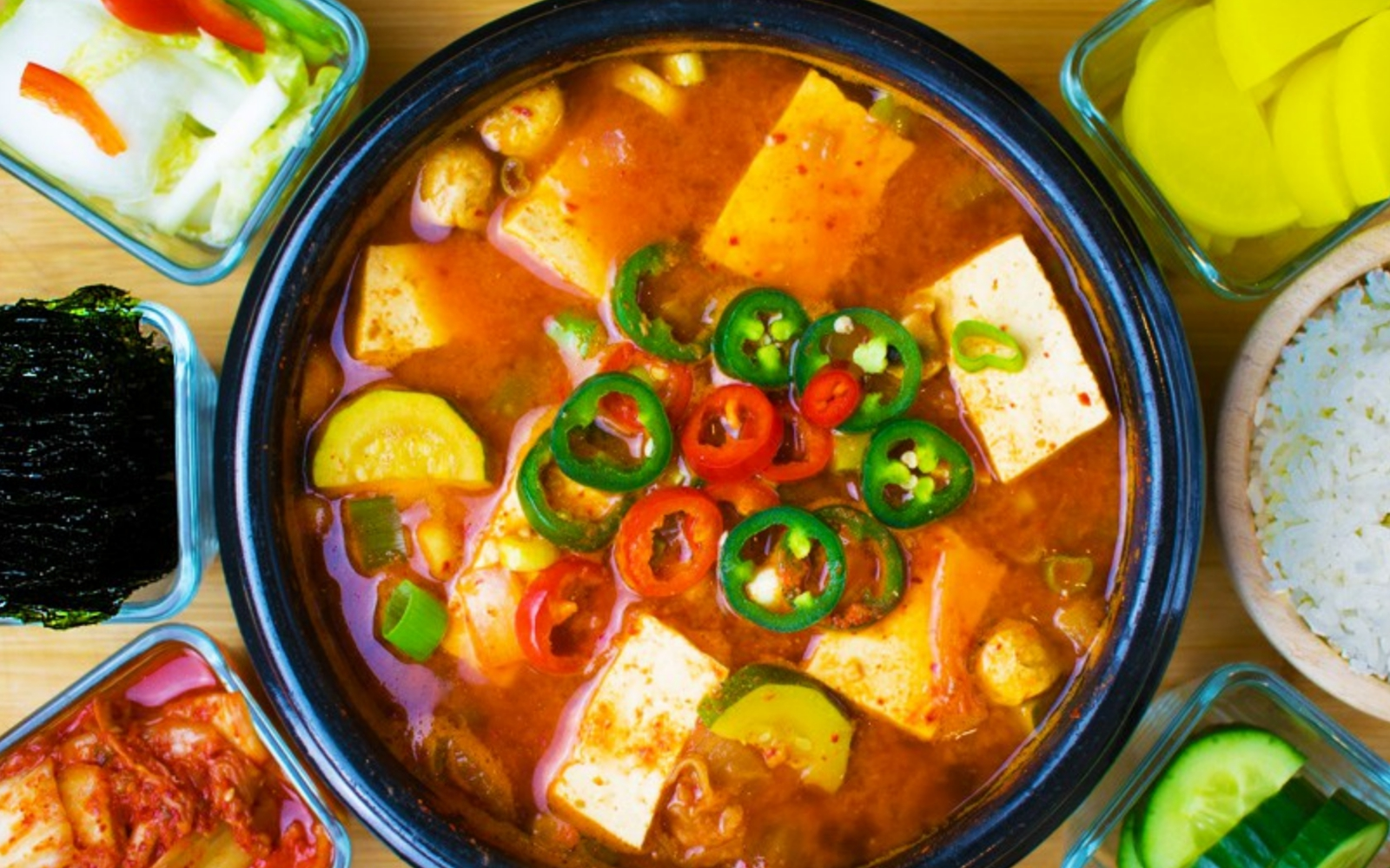 Vegan Korean Soybean Paste Stew