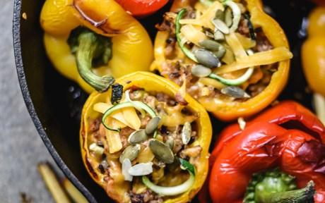 Vegan Gluten-Free Vegetables and Lemongrass Wild Rice Stuffed Peppers